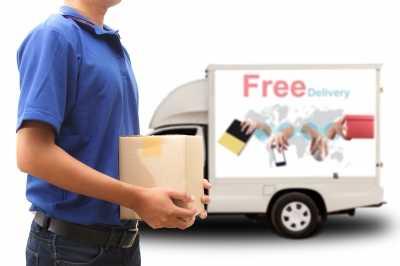 man delivering item