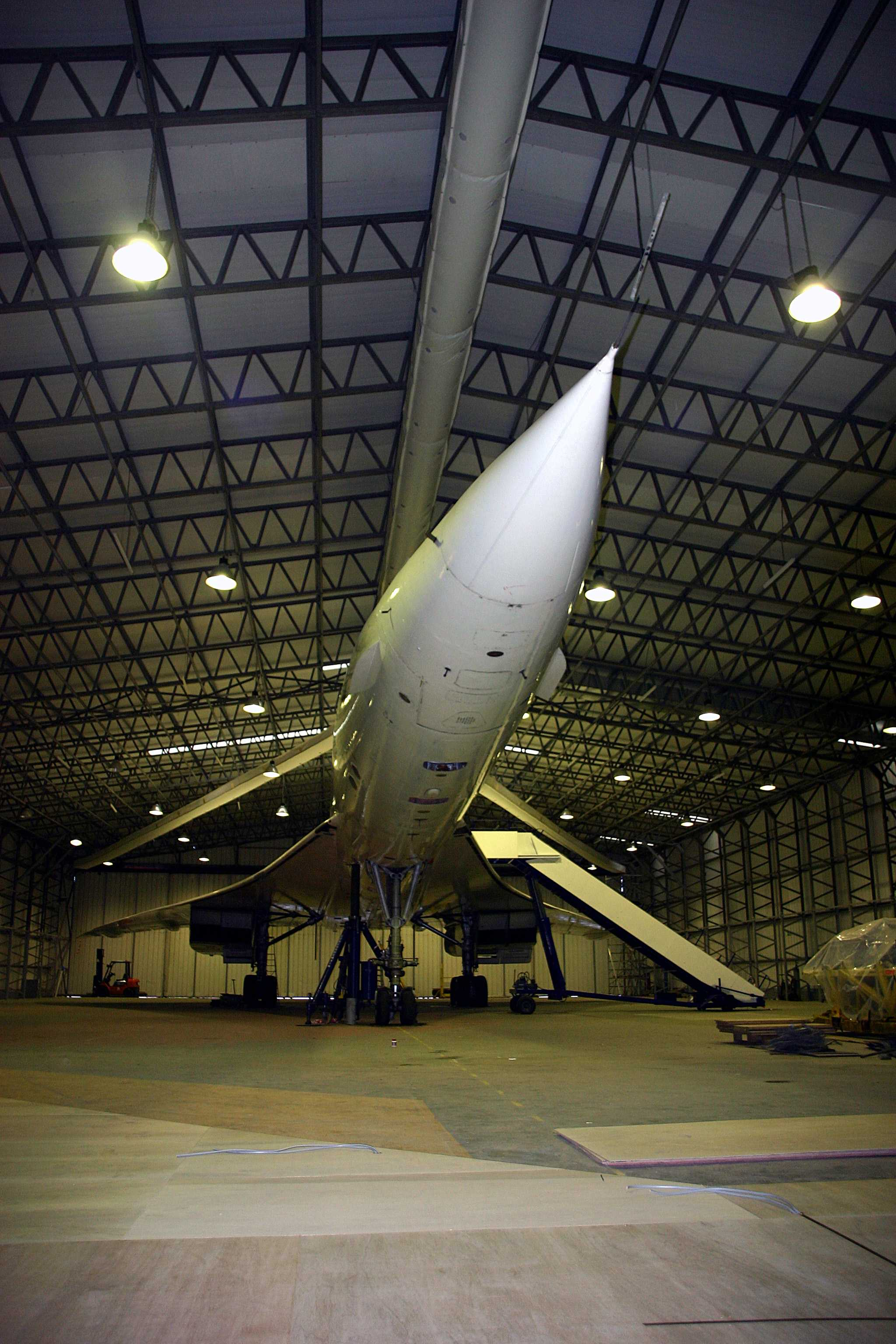 aircraft inside hangar house