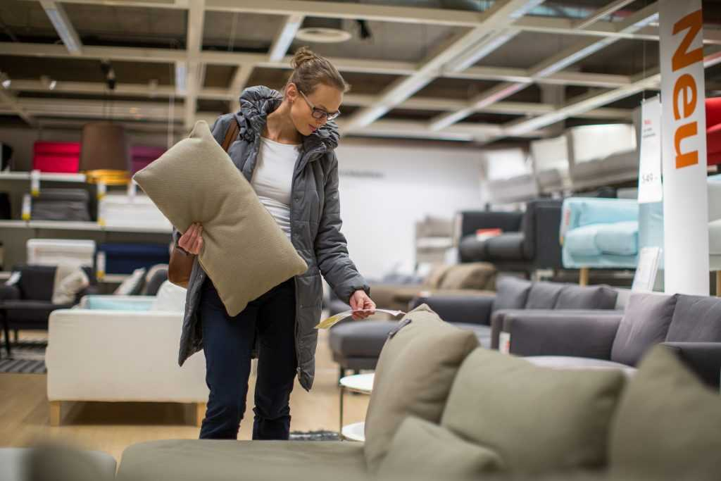 A Woman in a Furniture Store