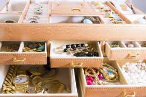 Pieces of Jewelry in Boxes