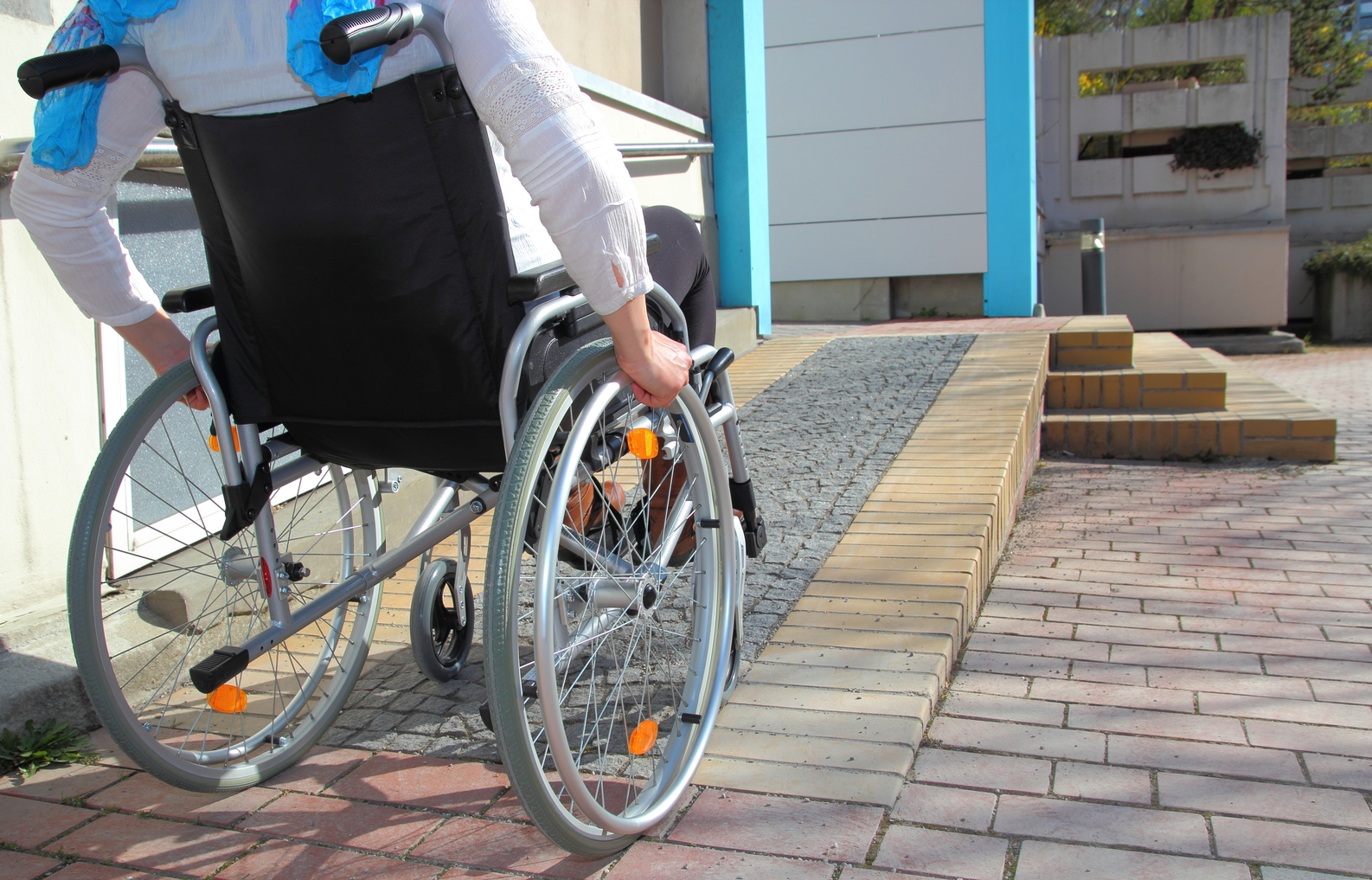 Man in a Wheelchair on a Ramp