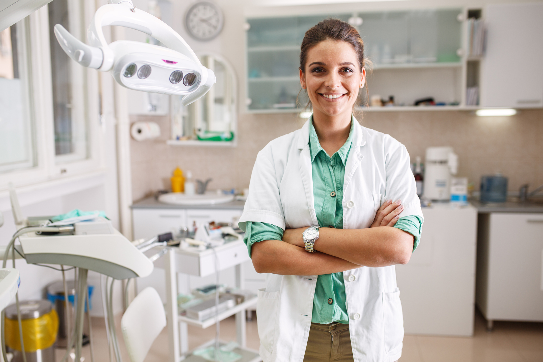 a dentist in her clinic