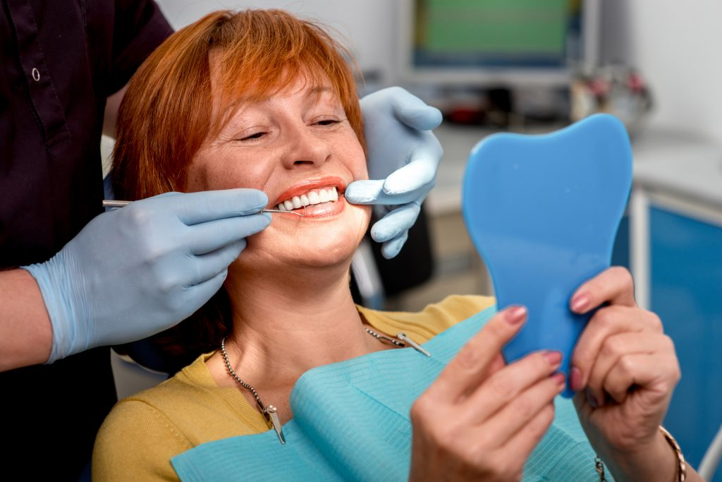Woman ready for her dental implant