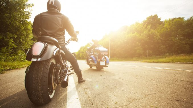 A motorcycle rider