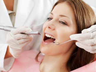 Woman at a dental clinic