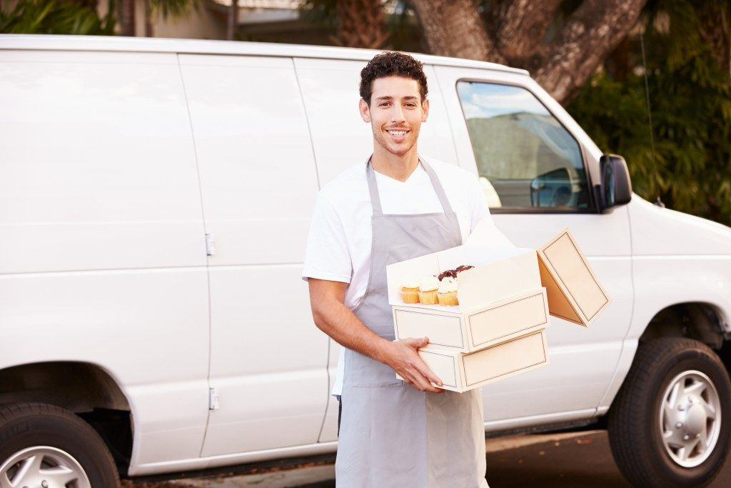 Delivering Cakes Using Van