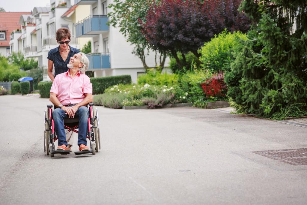 Elderly in wheelchair