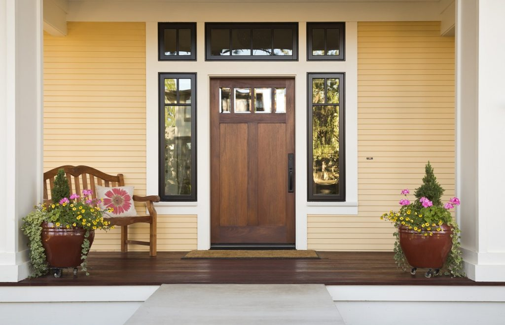 Front door of a home