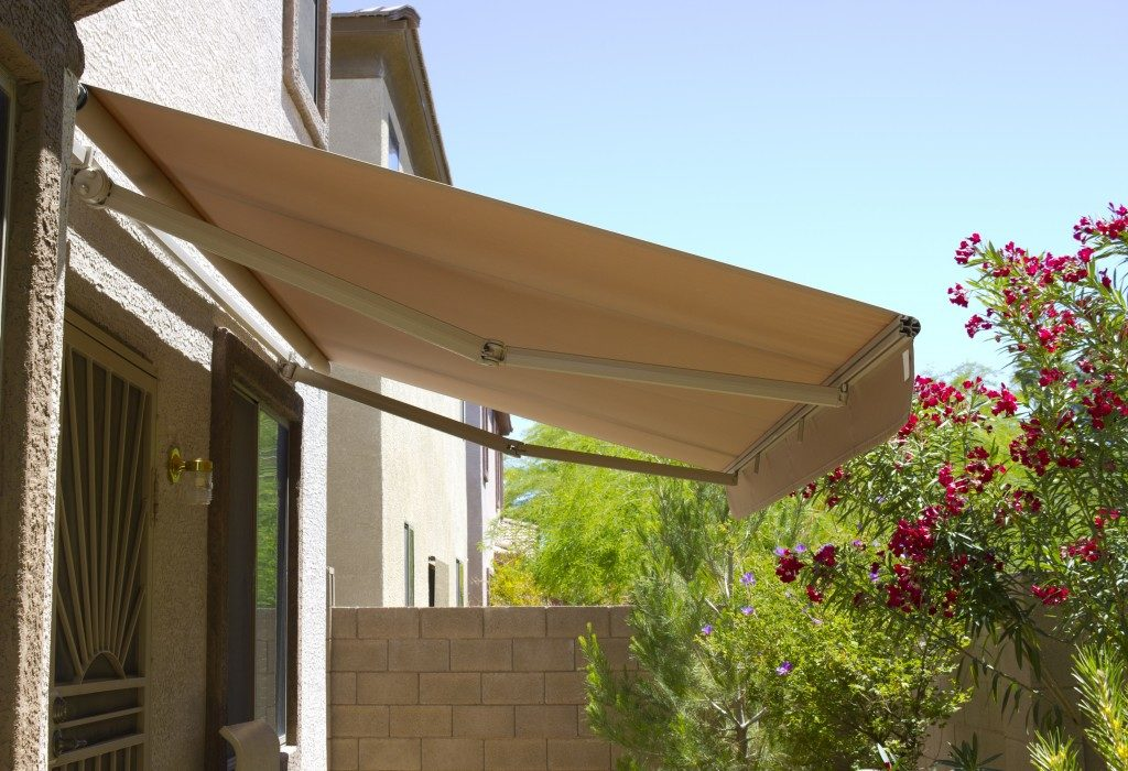 Backyard awning