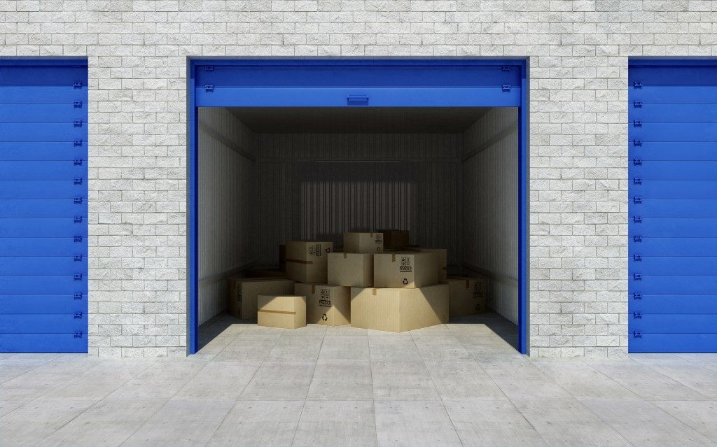 overhead door storage unit