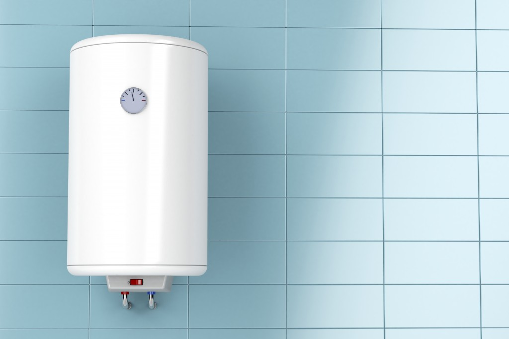 Water heater on a wall