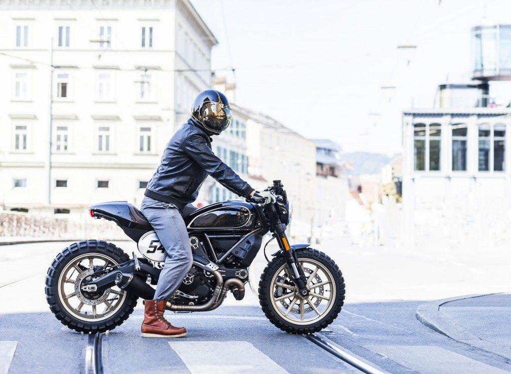 rider wearing helmet