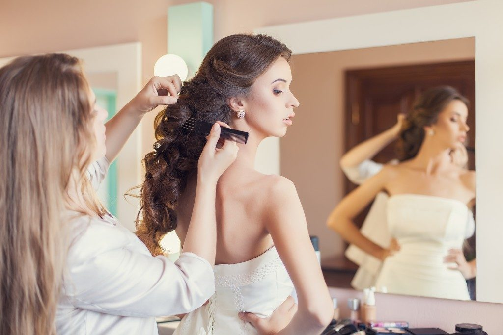 Make-up artist and the bride