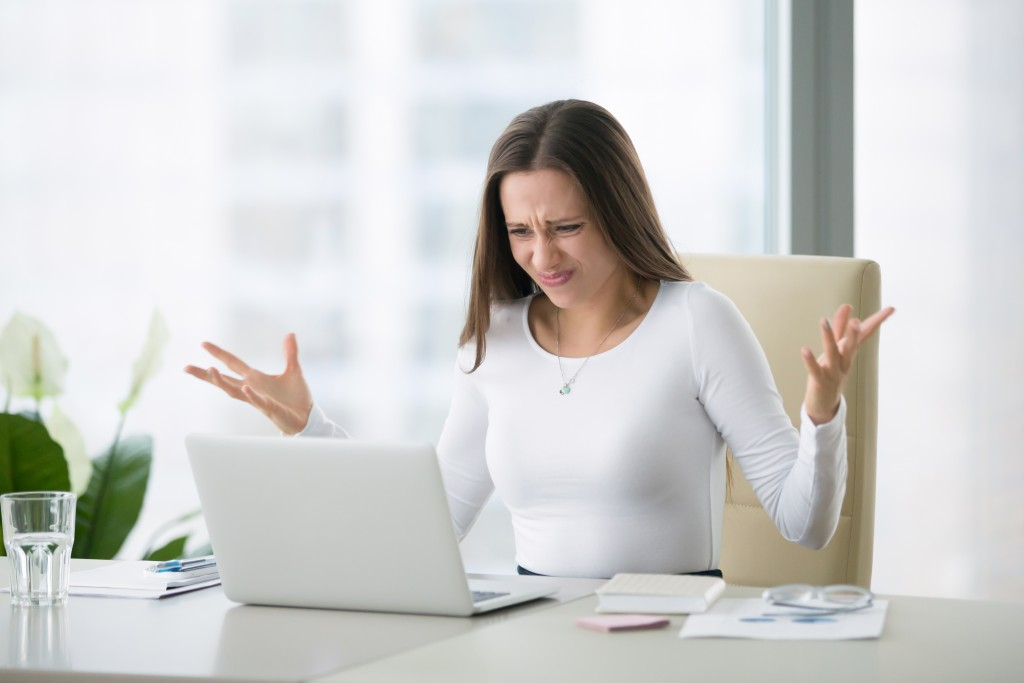 woman frustrated about work