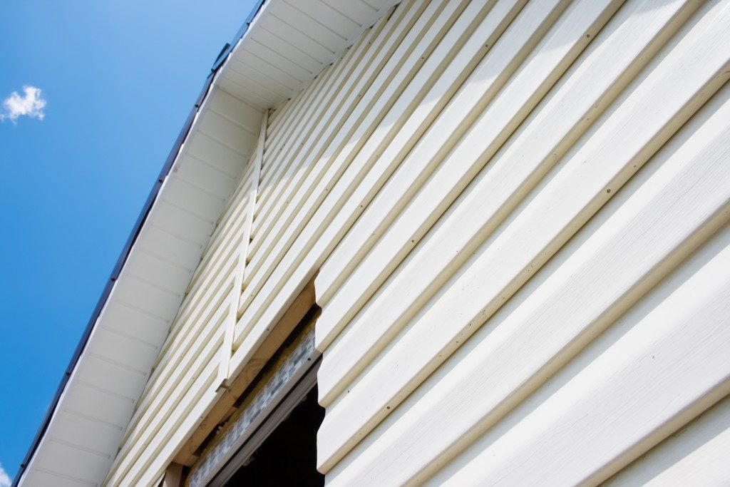 wooden siding of a house