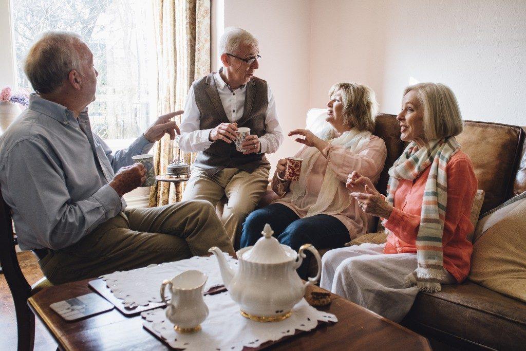 seniors bonding over a tea