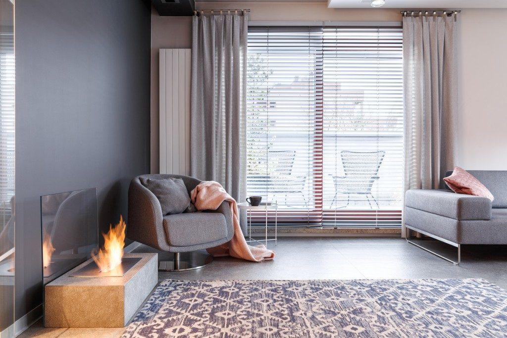 modern grey room