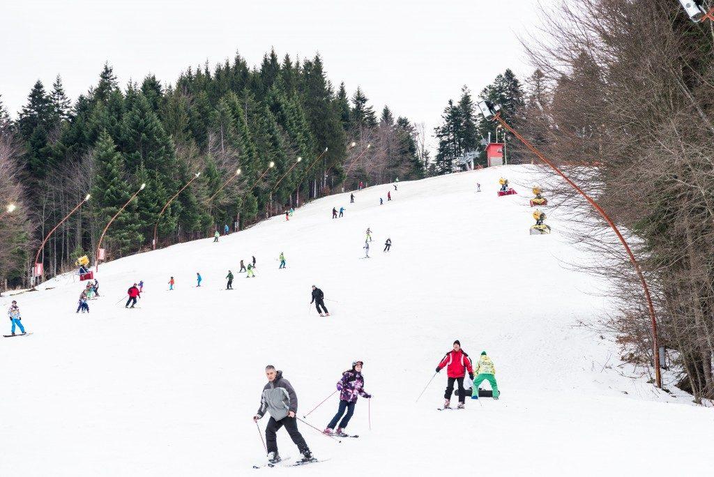tourist in a ski resort
