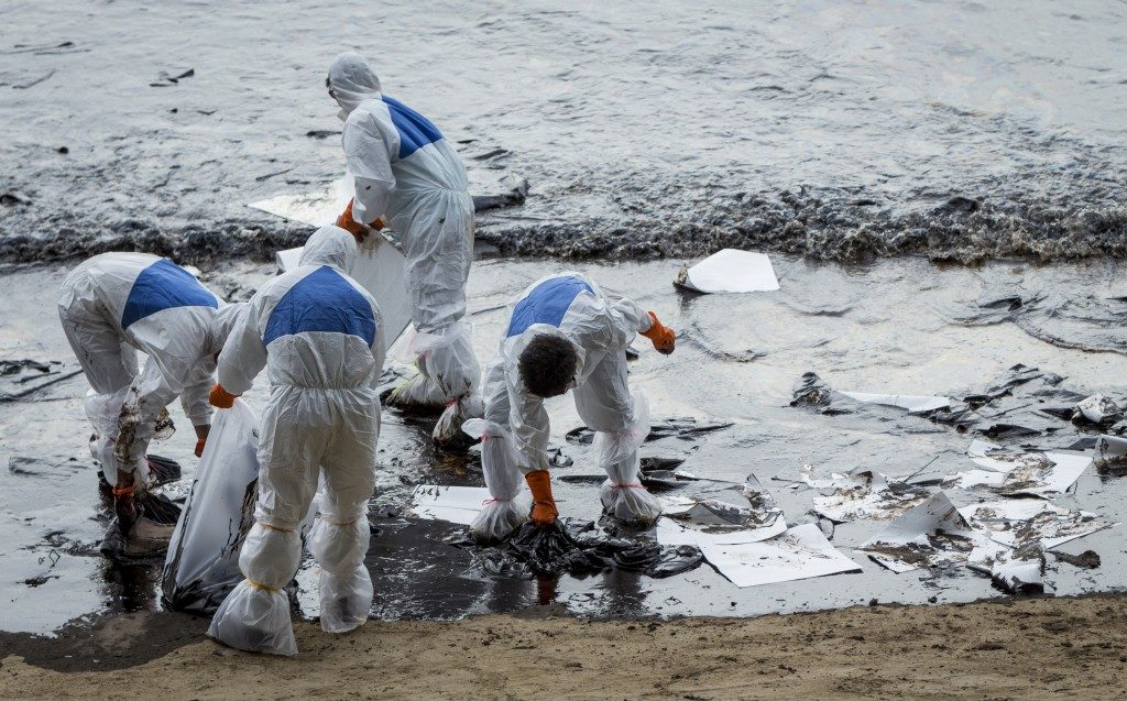 Oil pollutant clean up