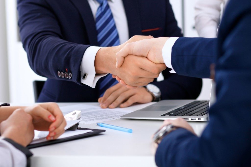 Businessmen handshake