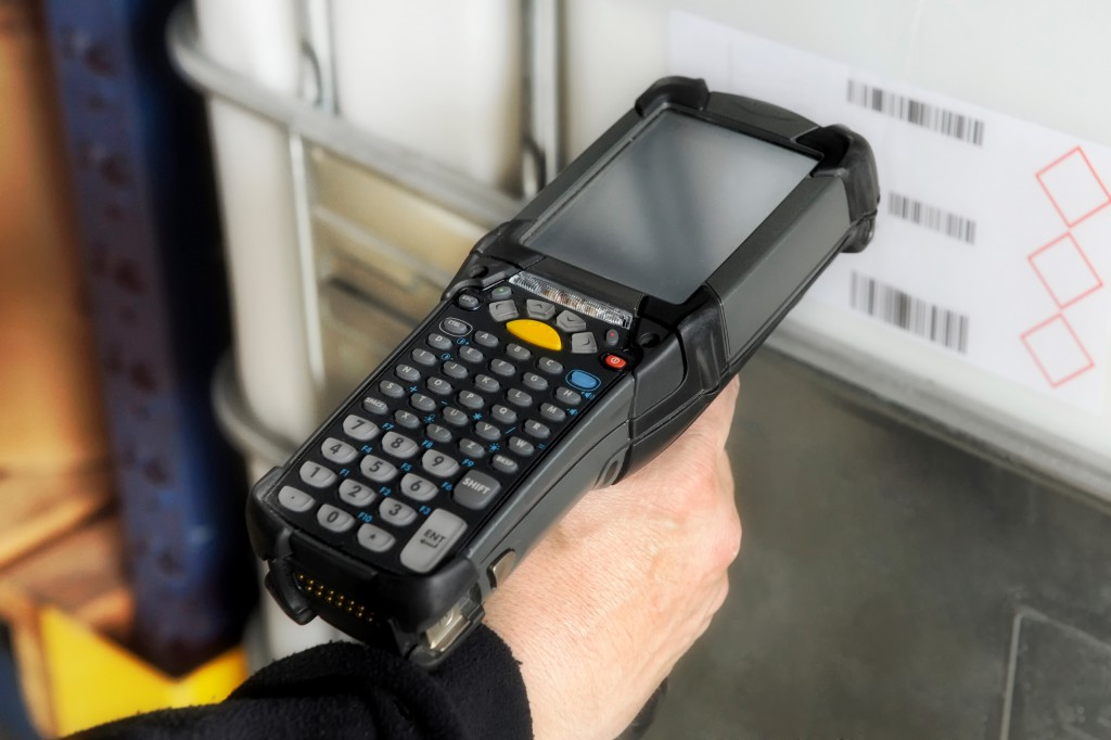 Bar code scanner for warehouse