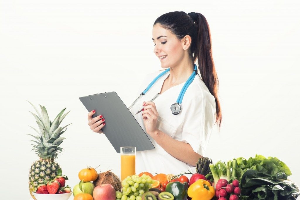 nutritionist checking something