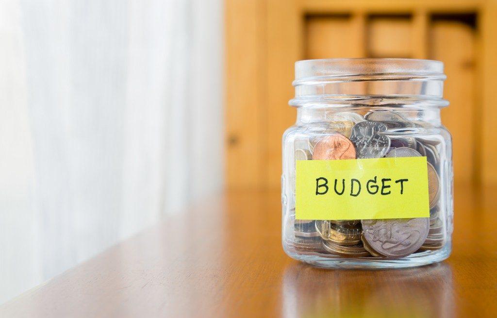money jar for budget