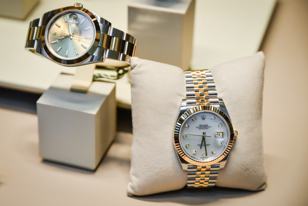 wrist watches displayed