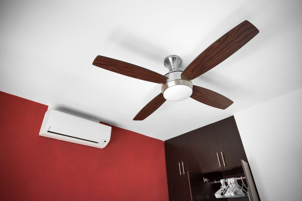 Electric ceiling fan at the room