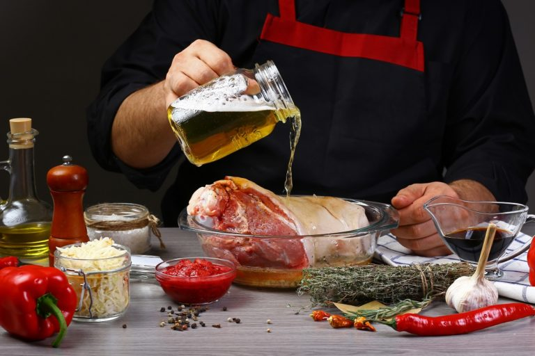 marinate food with beer