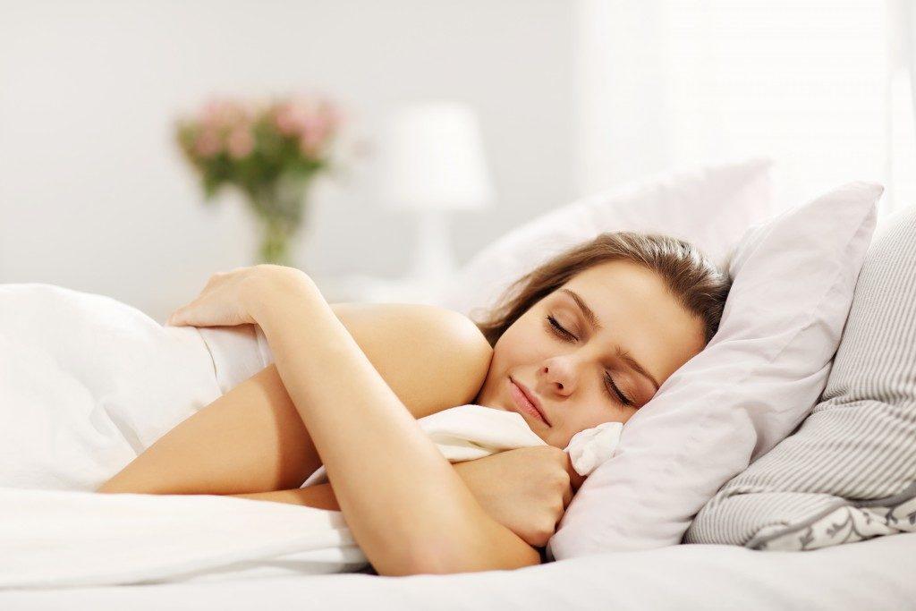 comfortably sleeping