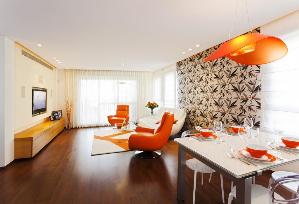 orange home interior