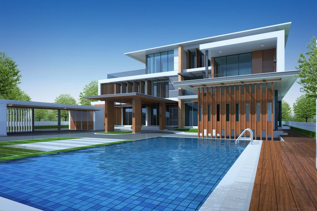home's swimming pool