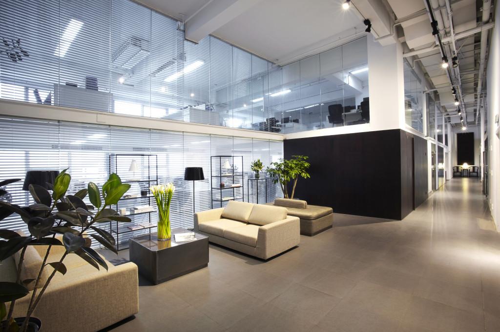 Modern building lobby