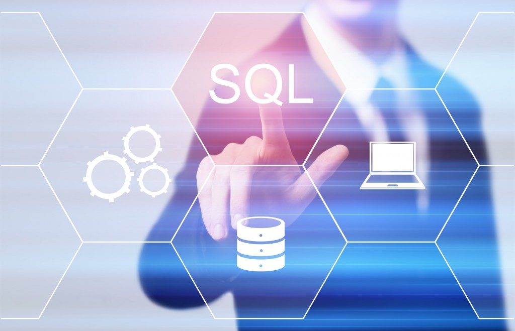 man using SQL Server
