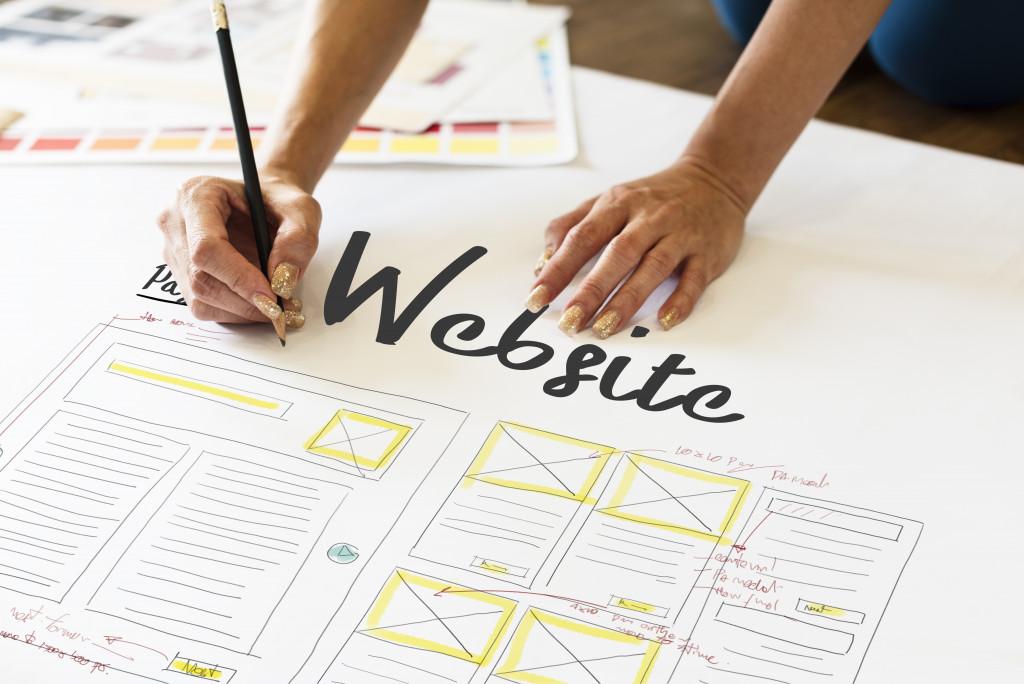 Website layout done by designer