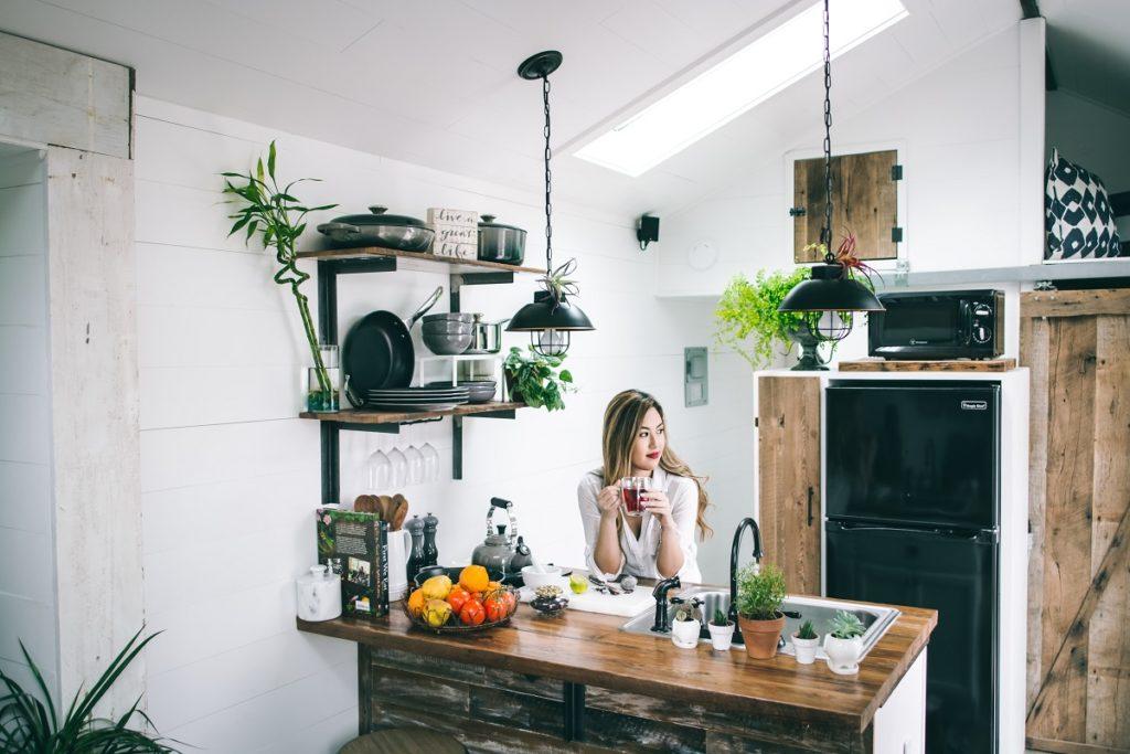 Woman on a kitchen