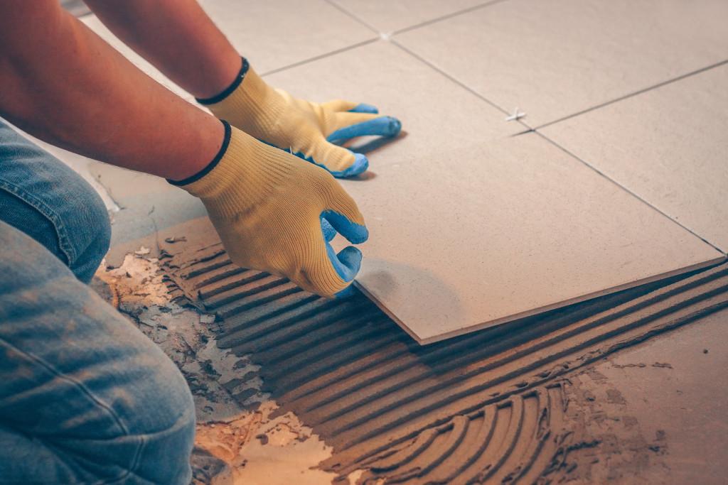Installing new tiles