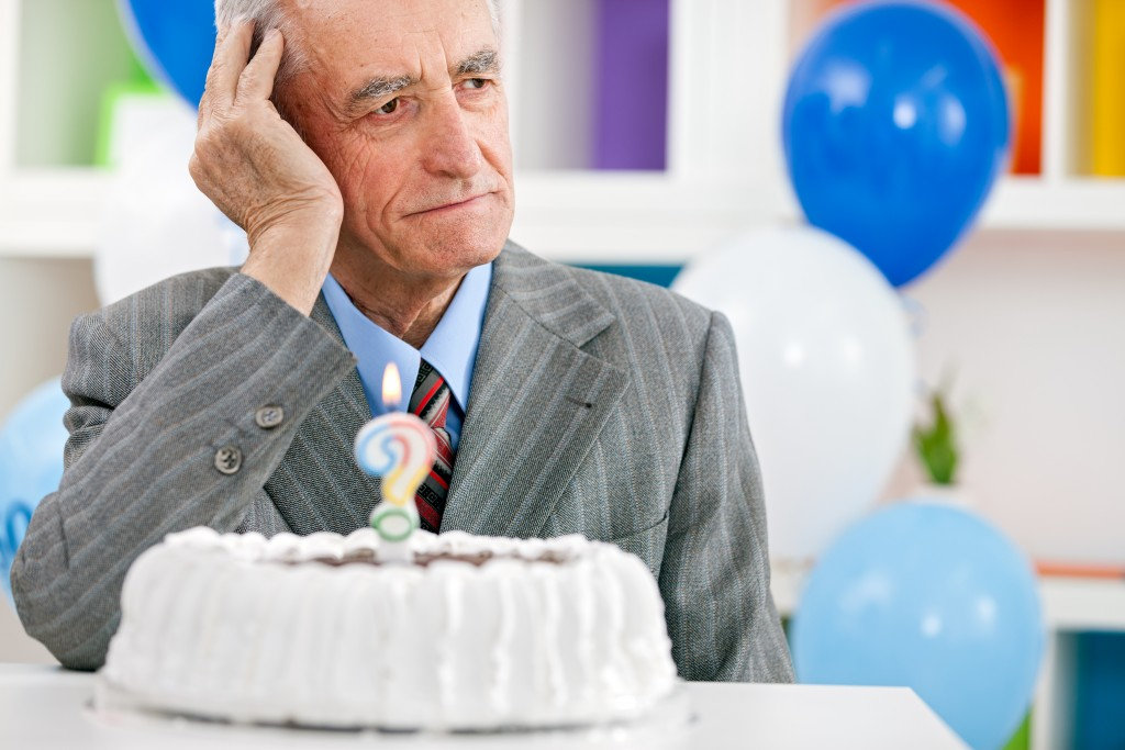 senior can't remember his age