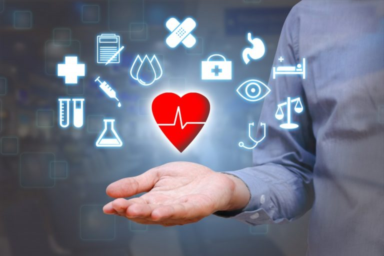 heart and healthcare logos