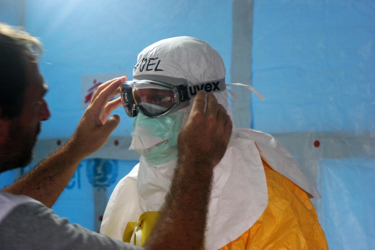 wearing full PPE