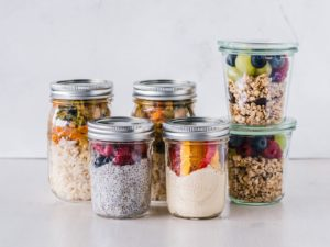 healthy snacks in a jar