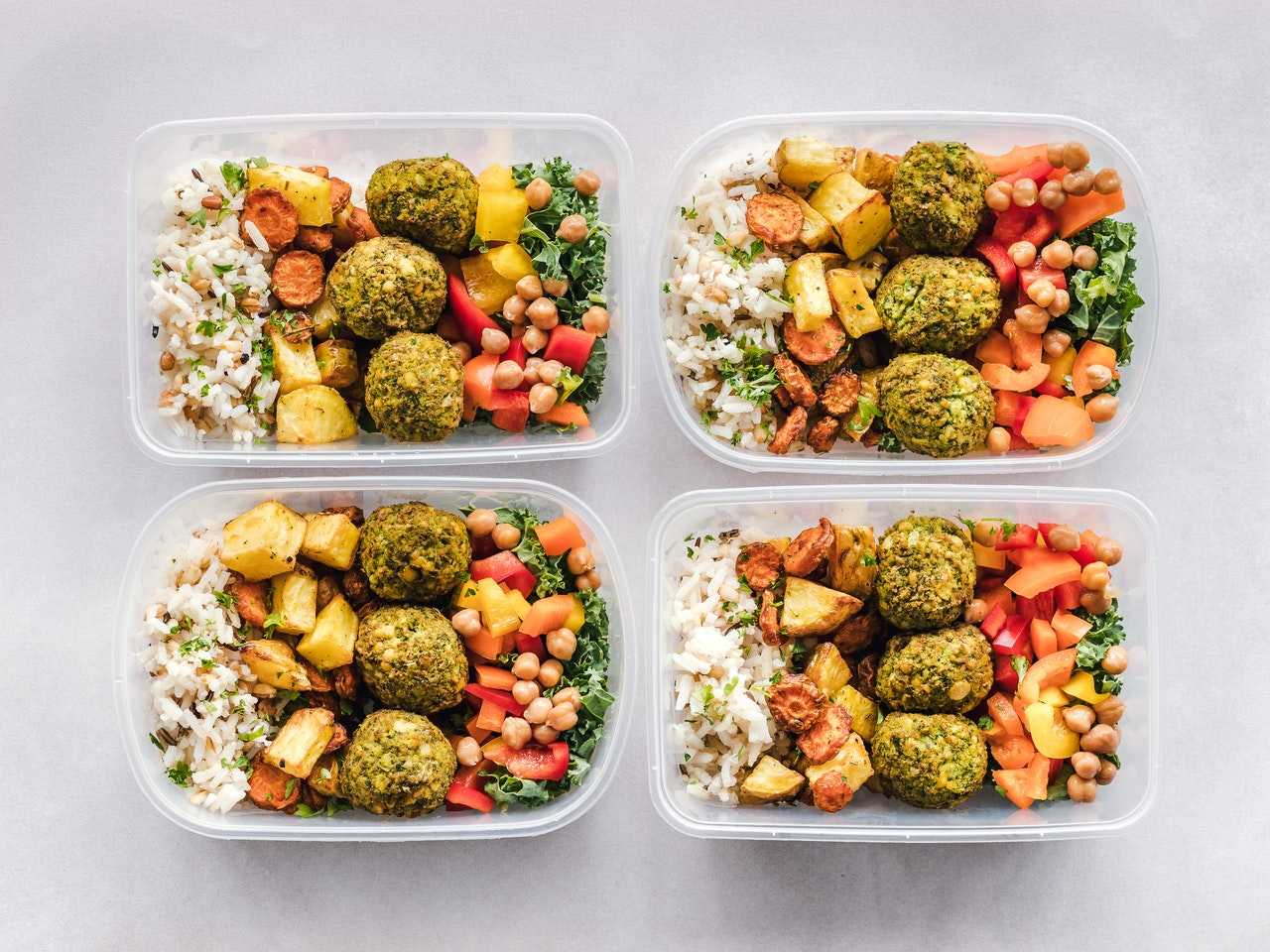 healthy food in pack lunch
