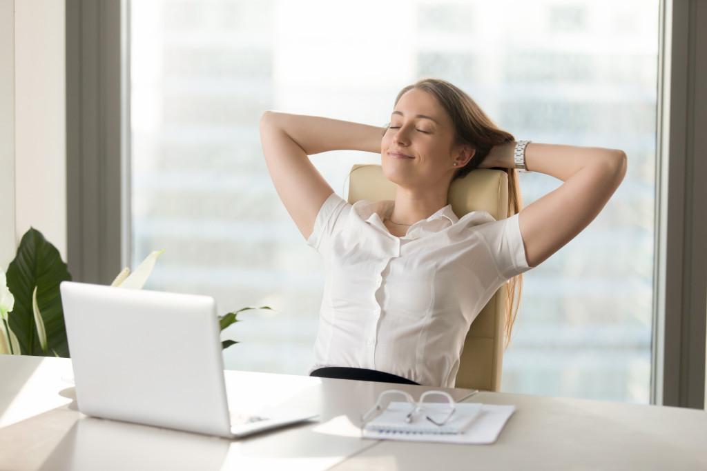 resting employee