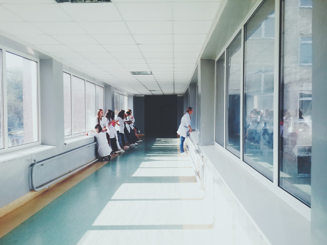 hallway of a hospital