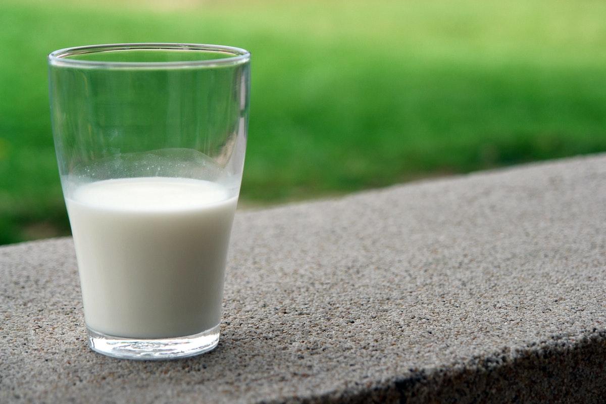 half glass of milk