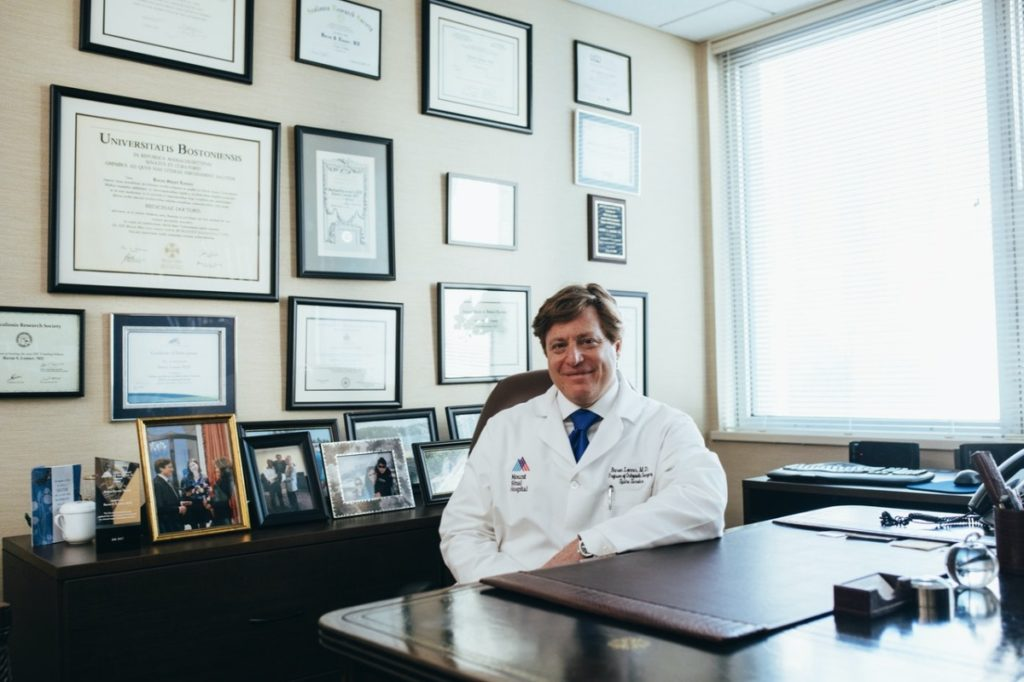 doctor in his office